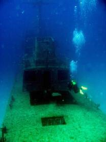 <p>Good vis on the wreck P29, diver Patrik Engstrom</p>